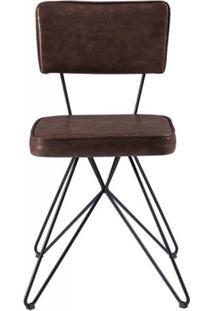 Cadeira Pop Retro Courissimo Whisky Base Estrela Preta 53Cm - 61252 - Sun House