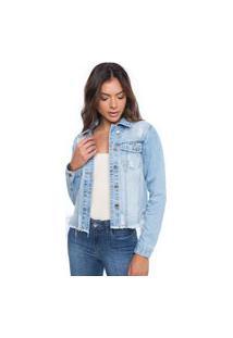 Jaqueta Feminina Diferenciada Azul Jeans