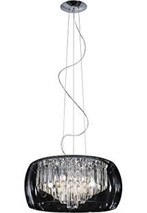 Pendente/Plafon Transparente Cristal 50Cm Hu6450Pc Bella