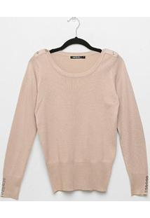 Suéter Tricot Miose Botões Feminino - Feminino-Rosa Claro