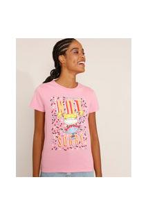 Camiseta Feminina Manga Curta Angelica Rugrats Os Anjinhos Decote Redondo Rosa