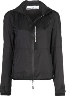 Paco Rabanne Zipped Fitted Jacket - Preto