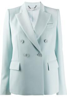 Stella Mccartney Blazer Com Abotoamento Duplo E Lapelas - Azul