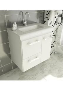 Gabinete Para Banheiro 60 Cm Com 2 Peças Vetro 13 Branco Tomdo