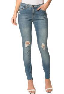 Calça Jeans Five Pocktes Super Skinny Ckj 001 Super Skinny - Azul Claro - 44