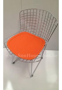 Cadeira Bertoia Assento Courissimo Laranja 16840 Sun House