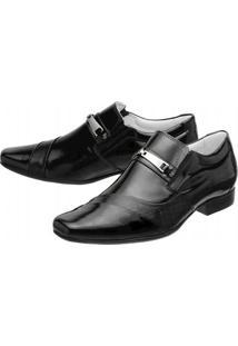 Sapato Social Mafisa Verniz - Masculino-Preto
