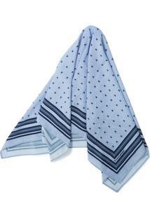 Echarpe Azul Estampado