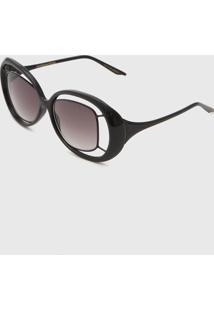Óculos De Sol Morena Rosa Max Oval Preto