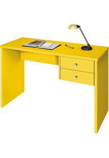 Escrivaninha Zanzini Móveis Intelectual 2 Gavetas Amarelo
