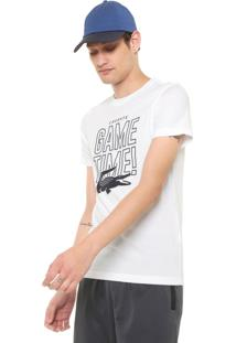 Camiseta Lacoste Game Time Branca