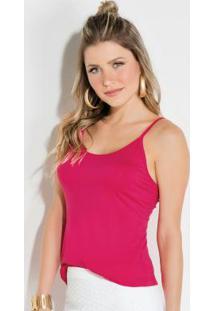 Blusa Quintess Pink Com Alças Reguláveis