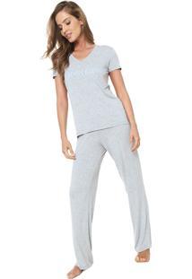 Pijama Calvin Klein Underwear Logo Cinza