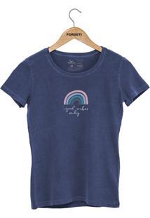 Camiseta Forseti Estonada Good Vibes Azul