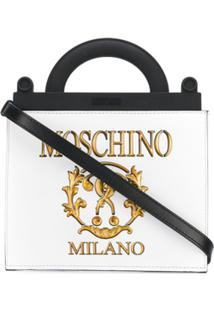 Moschino Bolsa 'Roman Double Question Mark' - Branco