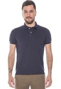 Camisa Polo Maquinetada Marinho - Masculino