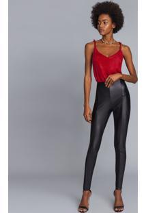 Calça Skinny Cirrê Preto Reativo - Lez A Lez