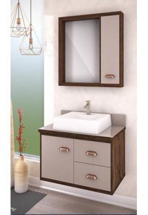 Gabinete Banheiro 65Cm 1 Porta 2 Gavetas Lilies Mã³Veis - Multicolorido - Dafiti