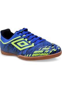 Tenis Masc Umbro Of72037 36 Id Grass Ii Azul/Limao