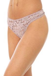 Calcinha Calvin Klein Underwear Fio Dental Renda Rosa
