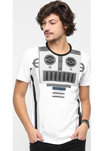 Camiseta Ellus Gola Careca Robô A.H Masculina - Masculino