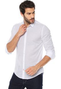 Camisa Calvin Klein Jeans Estampada Branca