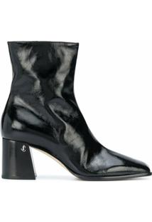 Jimmy Choo Ankle Boot Bryelle Com Salto 65Mm - Preto