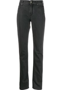 Karl Lagerfeld Denim Calça Jeans Reta Cintura Média - Preto