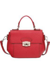 Bolsa Transversal Com Textura - Vermelha - 20X29X11,Fellipe Krein