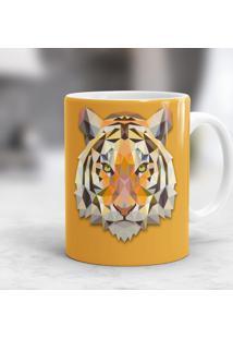 Caneca Porcelana Wevans Tigre Geométrico -