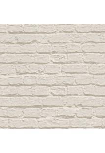 Papel De Parede Tijolinhos- Bege Claro- 1000X53Cm