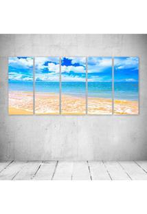 Quadro Decorativo - Mar Praia - Composto De 5 Quadros