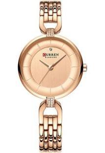 Relógio Curren Analógico C9052L Feminino - Feminino-Rose Gold