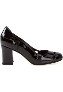 Sarah Chofakian Sapato De Couro Envernizado - Preto