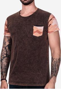 Camiseta Hermoso Compadre Manga Camuflada Masculina - Masculino