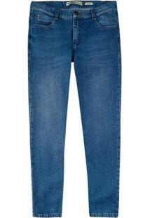 Calça Masculina Tradicional Em Jeans