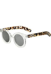 Óculos De Sol Marielas Transparente S8659 Feminino - Feminino-Preto