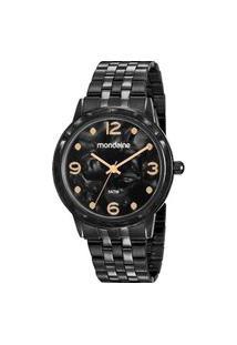 Relógio Feminino Mondaine Analógico Preto 53777Lpmvpe3