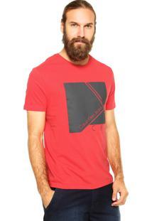 Camiseta Calvin Klein Jeans Estampa Vermelha