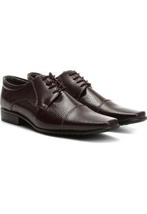 Sapato Social Walkabout Bico Quadrado Perfuros - Masculino-Café