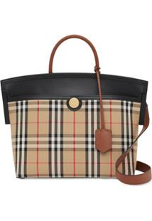 Burberry Small Society Vintage Check Top Handle - Neutro