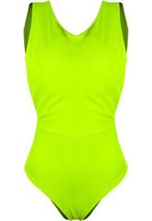 Body Otd Alça Grossa Neon Color Verão - Feminino-Verde