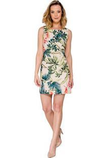 Vestido mini estampado floral