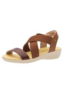 Sandália Anabela Doctor Shoes 112 Marrom