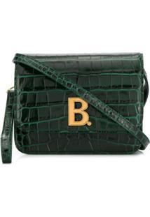 Balenciaga Bolsa Transversal Com Pele De Crocodilo - Verde