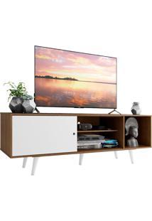 Rack Madesa Dubai Para Tv Atã© 65 Polegadas Com Pã©S - Rustic/Branco/Branco Marrom - Marrom - Dafiti