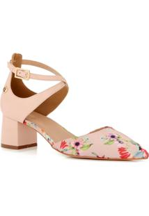 Scarpin Flowers Cs Club Estampado - Tricae