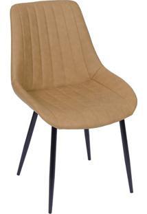 Cadeira Florença- Caramelo & Preta- 84X50X42,5Cmor Design