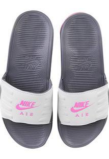 Chinelo Nike Air Max Camden Slide Feminino - Feminino-Cinza+Rosa