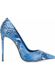 Le Silla Sapato Eva Com Estampa Pele De Cobra - Azul